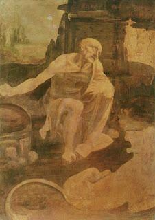 São Jerônimo no deserto, por Leonardo da Vinci