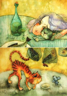 Открытки с иллюстрациями Виктории Кирдий