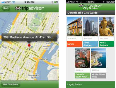 אפליקציית Trip Advisor