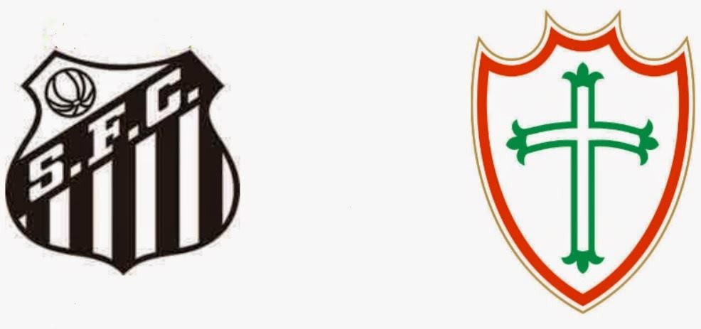 Santos vs Portuguesa, escudos