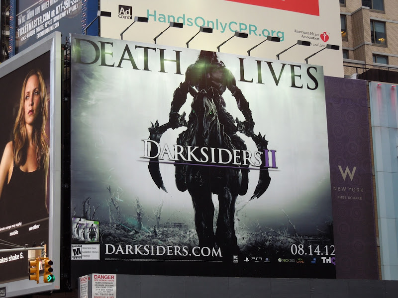 Death Lives Darksiders II billboard Times Square NYC