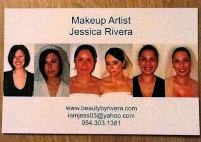 wedding makeup artist comp card