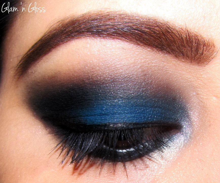 A Matte Blue Black Smokey Eye Makeup Glam N Gloss