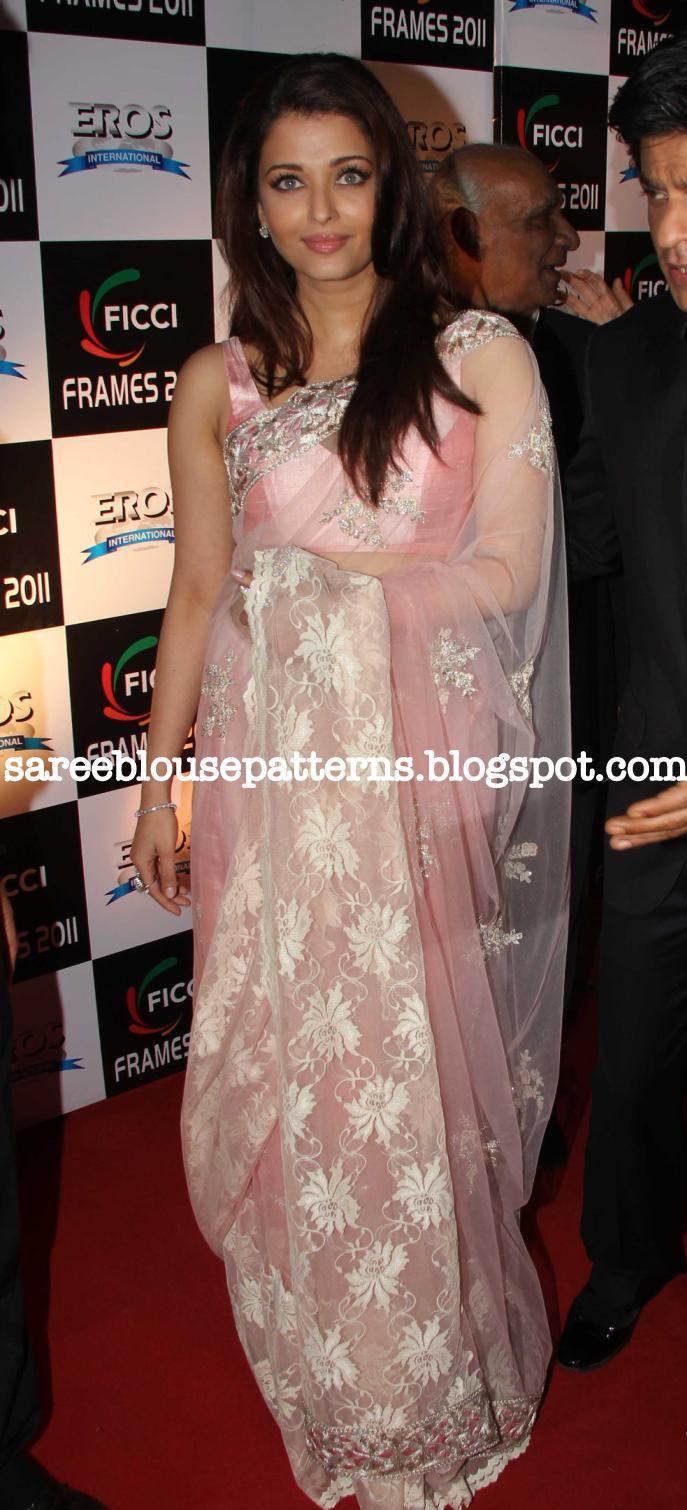 d1e18e2e9bb3ec Bollywood and South Indian actress Aishwarya Rai looks pretty in Manish  Malhotra's pink designer embroidery shimmer saree. It is embellished with  silver ...