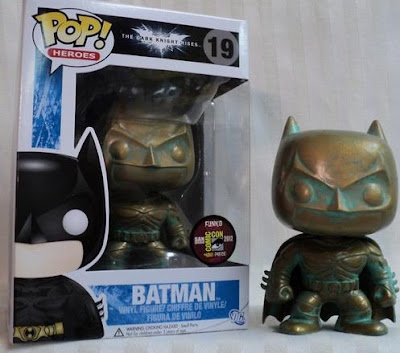 San Diego Comic-Con 2012 Exclusive Patina Finish Batman The Dark Knight Rises Vinyl Figure by Funko