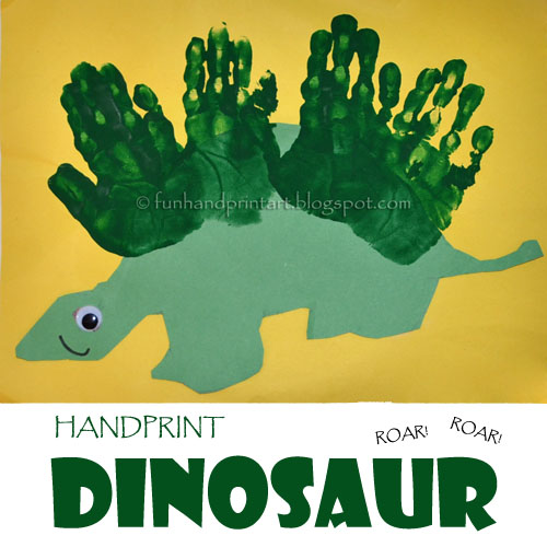 How to make a Handprint Dinosaur