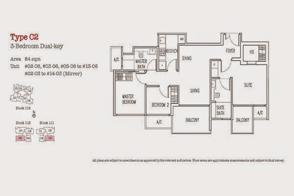 3 Bedrooms Floor Plan