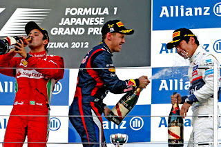 FÓRMULA 1-Vettel vence y está a 4 puntos de Alonso que abandonó