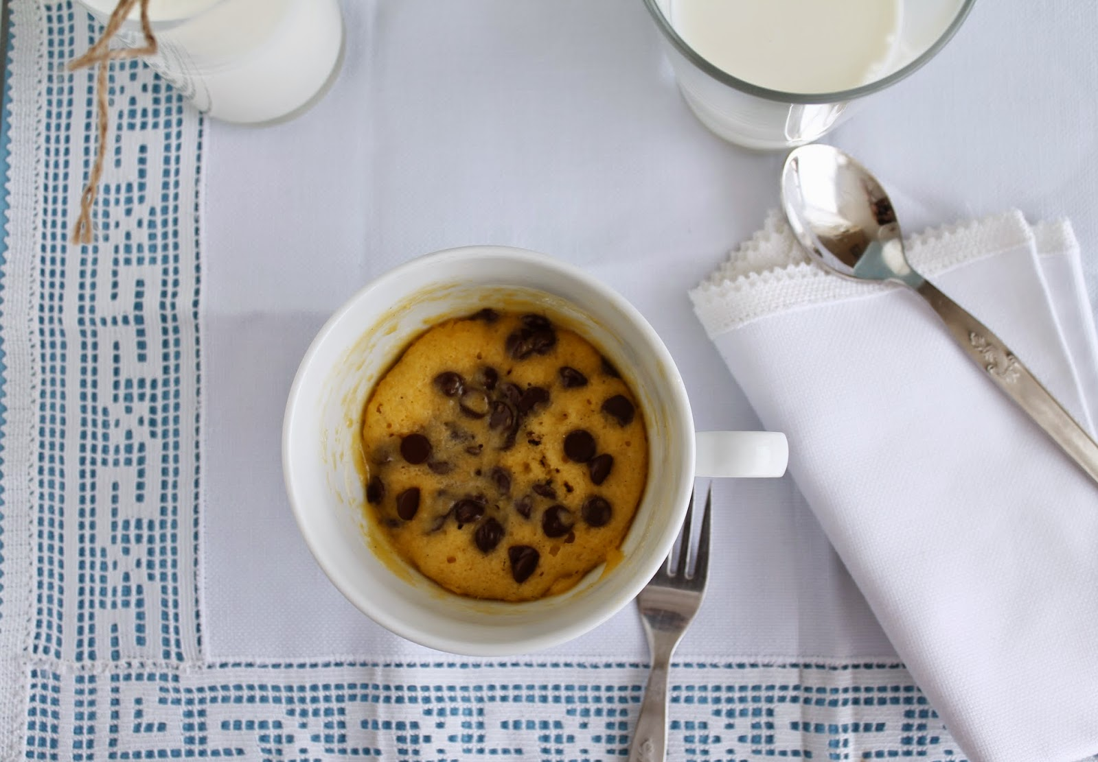 Receta y paso a paso Cookie in cup o Galleta hecha en taza