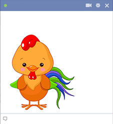 Rooster Facebook Sticker