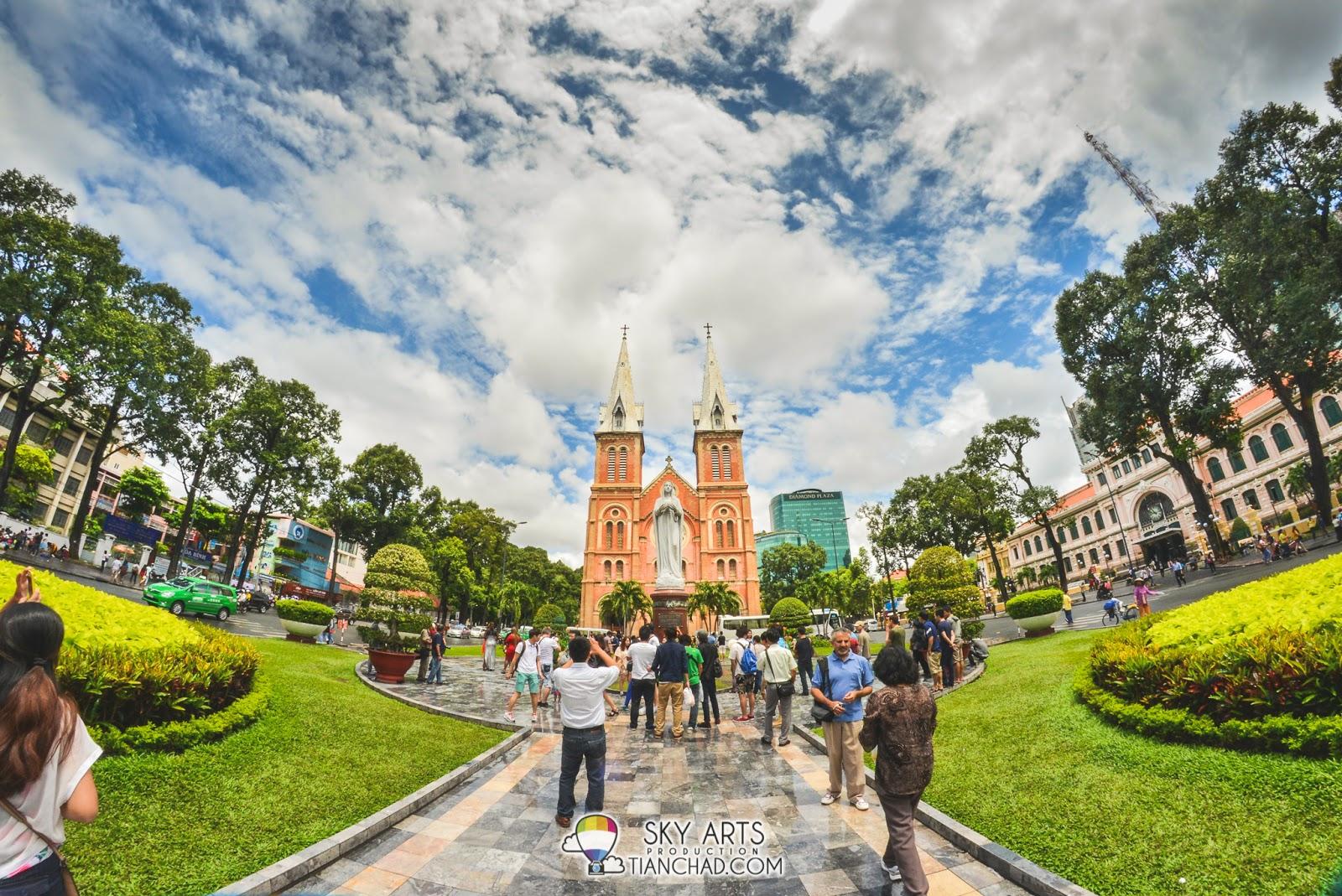 Notre Dame Cathedral in Saigon, Vietnam (2014)