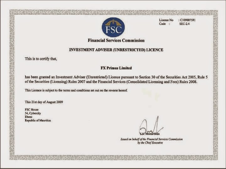Forex brokerage license