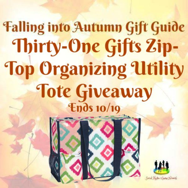 Thirty One Gifts Zip Top Organizing Utility Tote