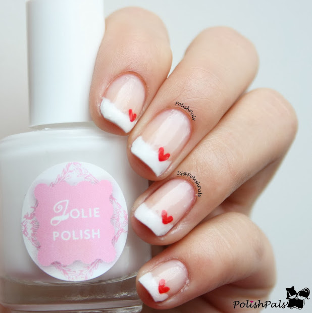 polish pals french tips hearts