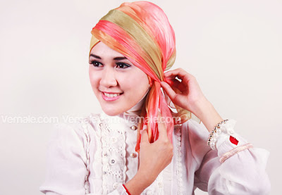 Cara Memakai Jilbab Hijab Pashmina  Modern Kreasi Chiffon Untuk Acara Resmi Terbaru