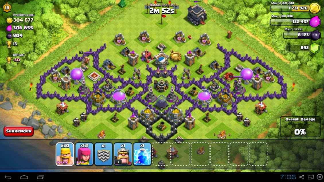 Funny layouts clash of clans dicas