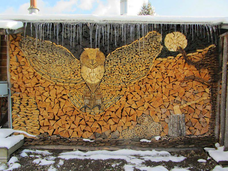 These People Turned Log Piling Into An Art Form