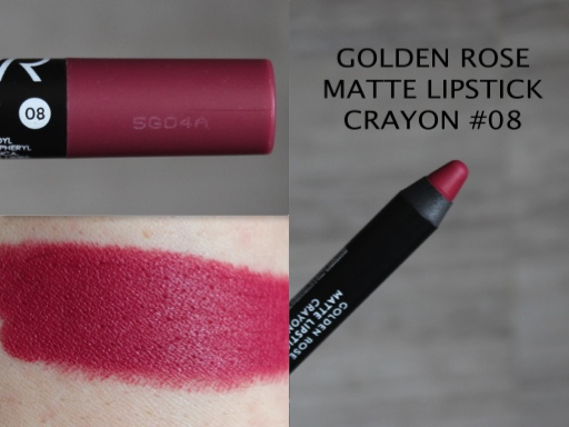Резултат слика за golden rose matte lipstick crayon 08