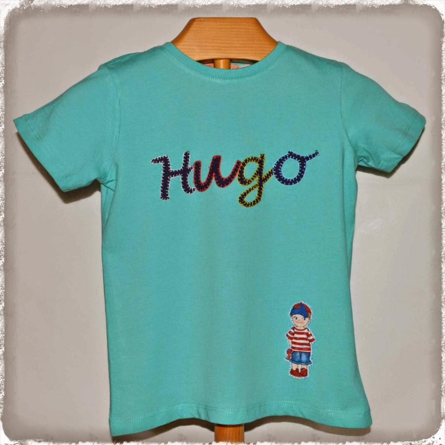 Camiseta infantil personalizada. Muñeco recortable.