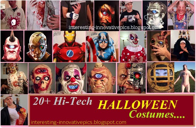 Hi-tech creative halloween costume designs