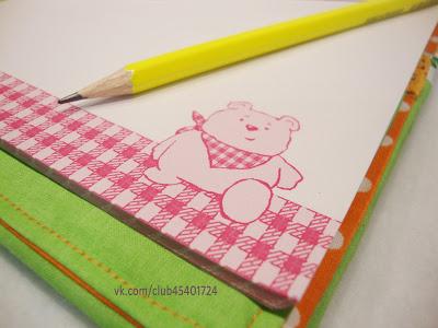 Текстильный блокнот со сменным блоком