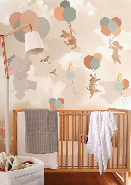 Little hands little hands wallpaper mural for Baby mural wallpaper