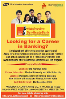 Time to Get a job in Bank | Job offers in syndicate bank