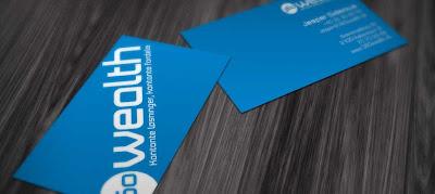 tarjetas de presentación en azul