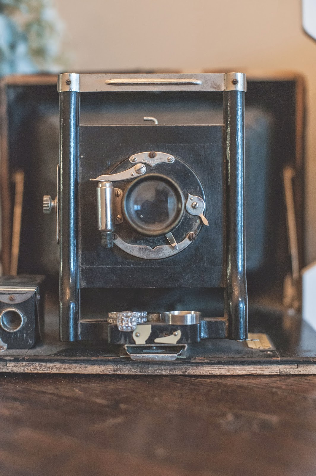 Vintage Camera Wedding rings