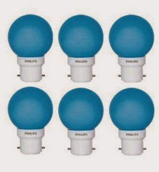 Buy Philips Decoration 0.5-Watt LED Bulb (Blu e, Pink, Yellow) Pack of 6 Rs. 84