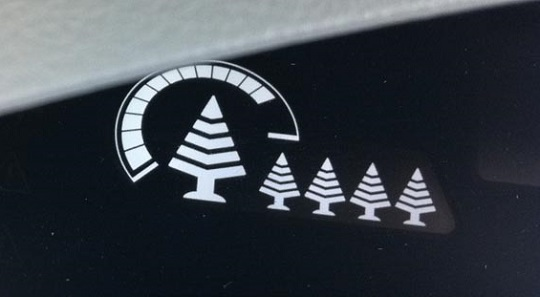 Nissan Leaf set of five tree icons