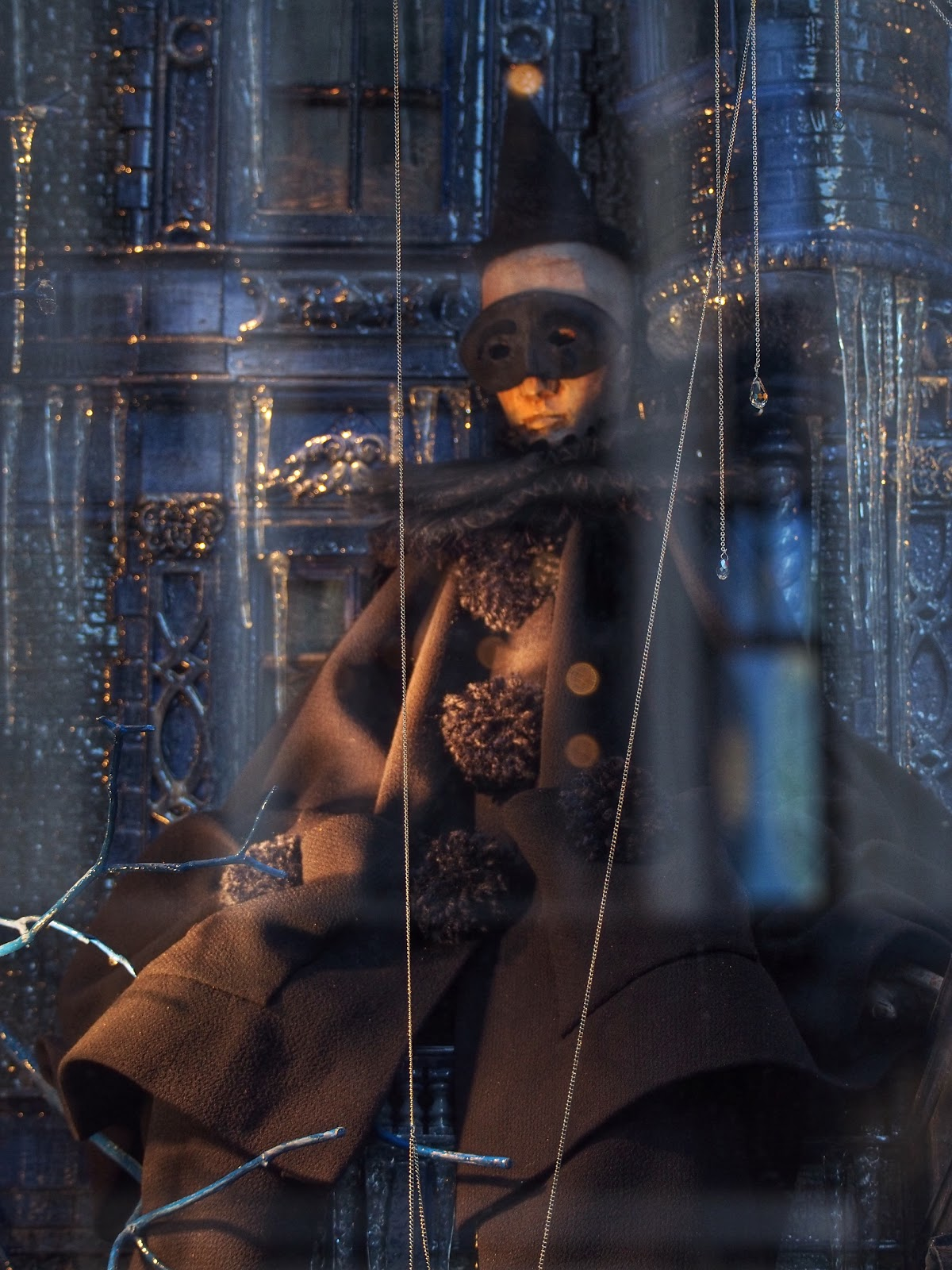 Cloaked and Masked #BGWindows #HolidaysonIce #5thaveueholidaywindows #NYC 2013