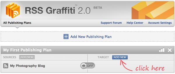 RSS Graffiti: Add New Target