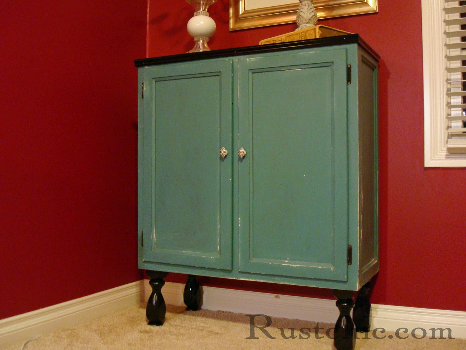 The Legs Were Removed From An Old Coffee Table And Painted Black Before  Being Securely Screwed To The Bottom. A Small Piece Of Crown Trim Painted  Black Was ...