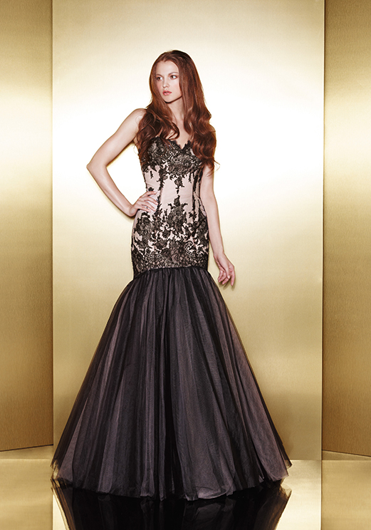 Love 16 Black Mermaid Prom Dresses by Enzoani 2013