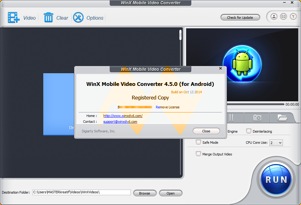WinX Mobile Video Converter 4.5.0