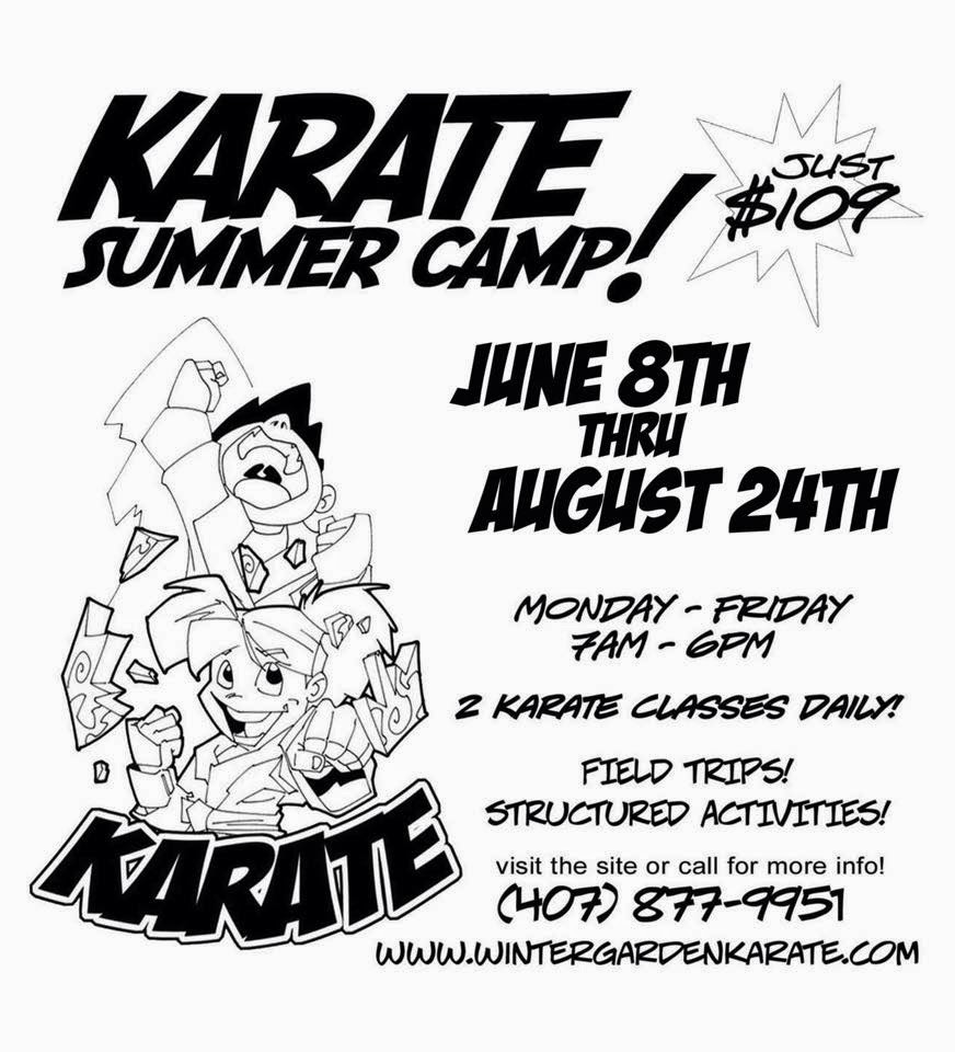 winter garden karate karate summer camp 2015