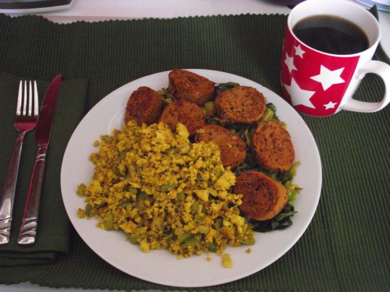 Rocket and Roses Vegan Kitchen: Sunday Brunch: Collards with Chorizo ...