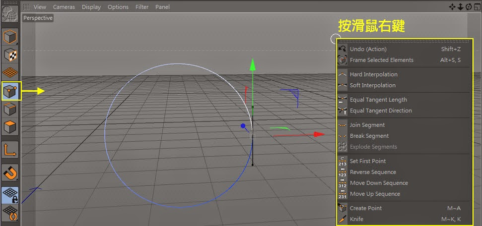 Manipulating Curve in C4D 08