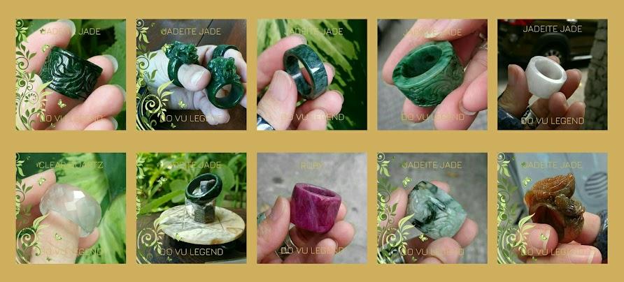 Nhẫn Càn Long bằng đá quý tự nhiên nguyên khối