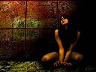 Prisoned Girl Dark Gothic Wallpaper