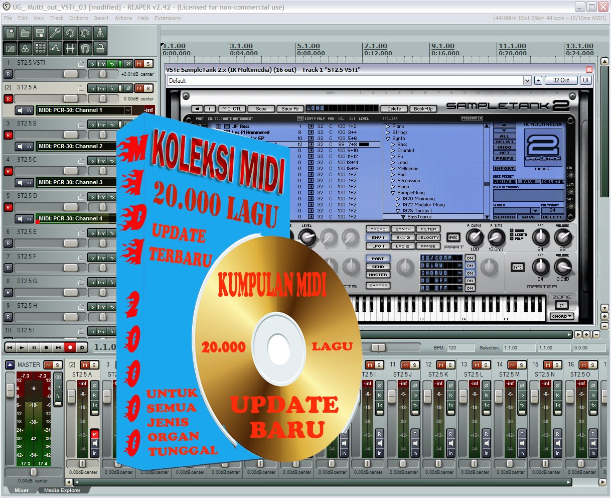 KOLEKSI MIDI & STYLE SONG SOFTWARE SEQUENSER KEYBOARD