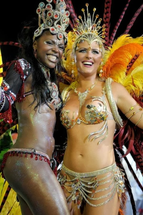 Sheila Mello and colleague, Beautiful women in carnival Brazil