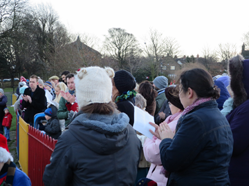 Calverley Carols in the park.