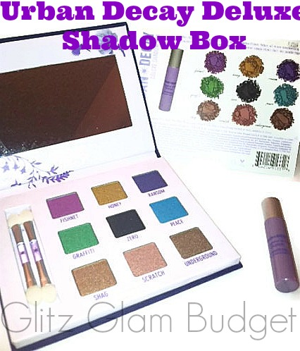 Urban Decay Deluxe Shadow Box Palette Swatches