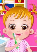 Малышка чистит зубы - Онлайн игра для девочек