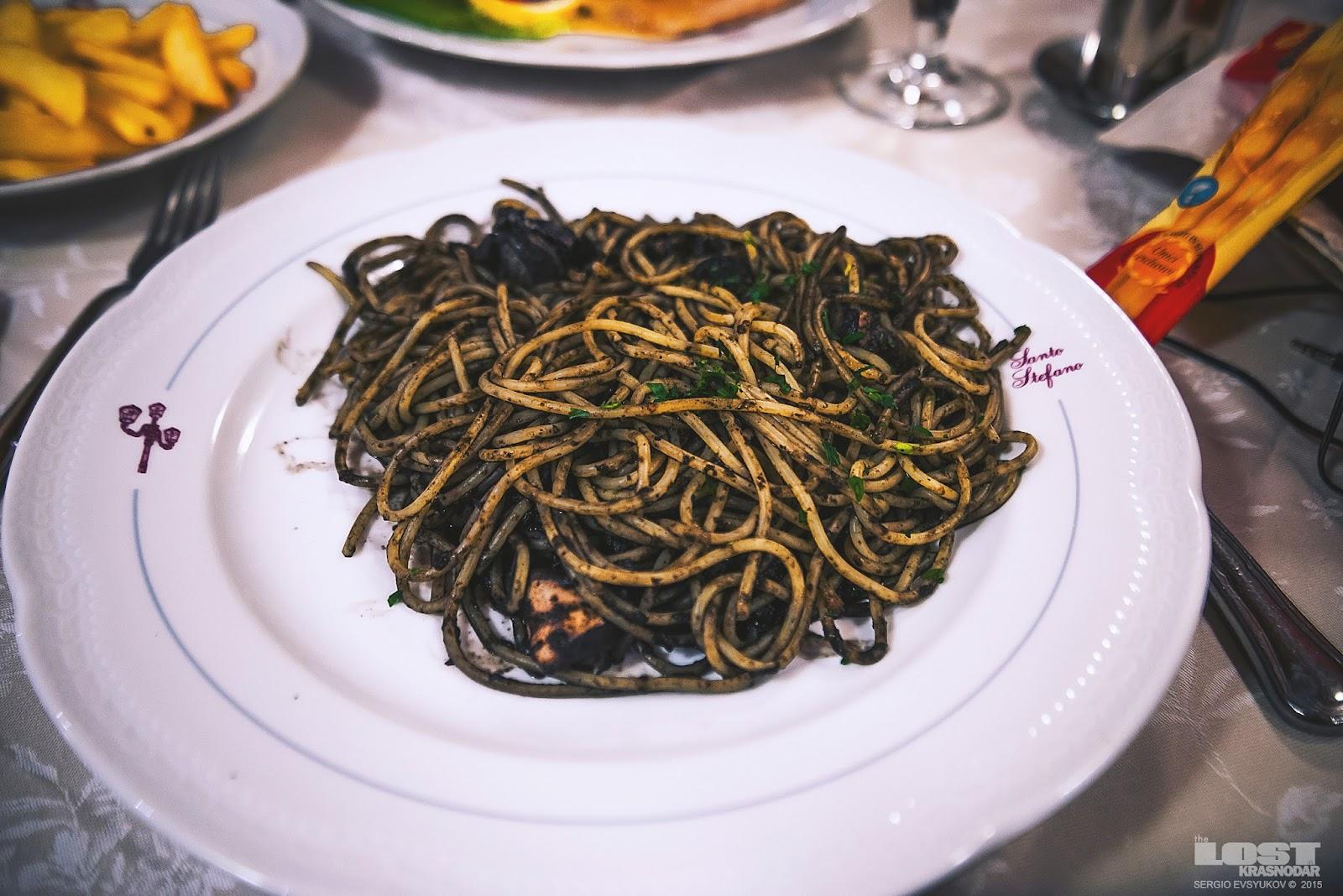 Черная паста Венеции