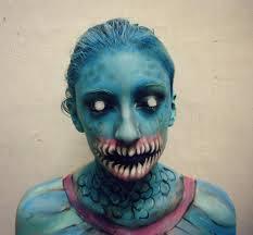 Maquillaje especial  pez terror