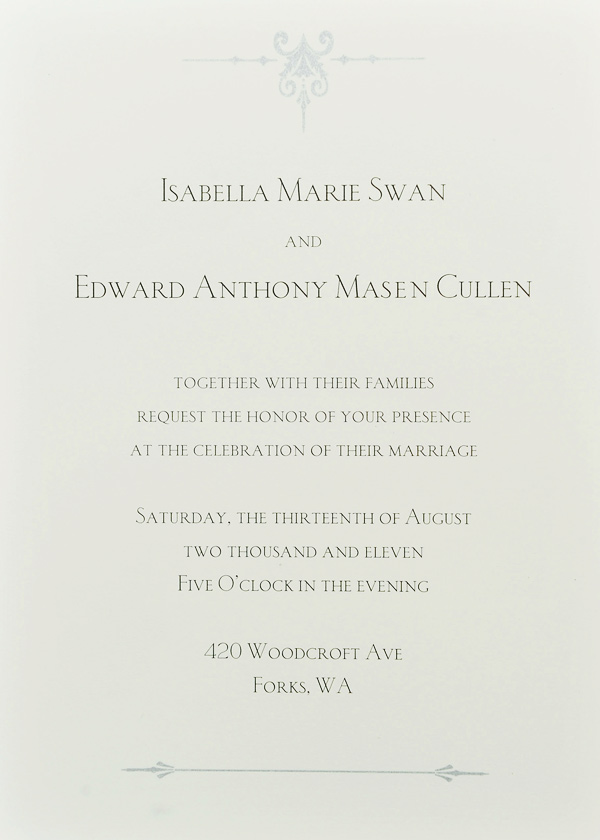 Breaking dawn wedding invitation card revealed teaser leaked vampire shapeshifters so what are you stopboris Choice Image