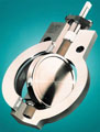 Industrial butterfly valve cutaway